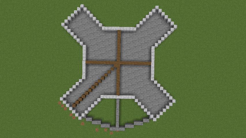Minecrafterししゃもがマインクラフトでぷっこ村にフレンチパビリオンっぽいのを建築する1