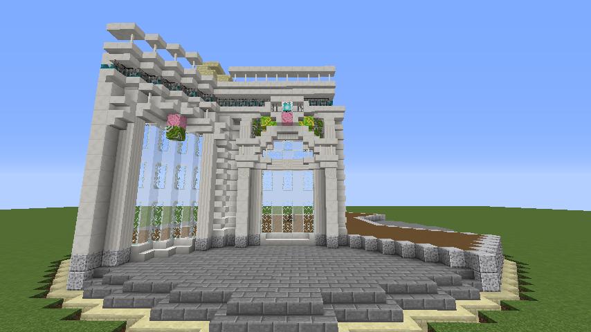 Minecrafterししゃもがマインクラフトでぷっこ村にフレンチパビリオンっぽいのを建築する3
