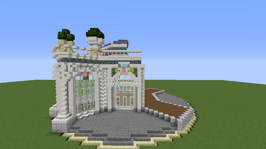 Minecrafterししゃもがマインクラフトでぷっこ村にフレンチパビリオンっぽいのを建築する4