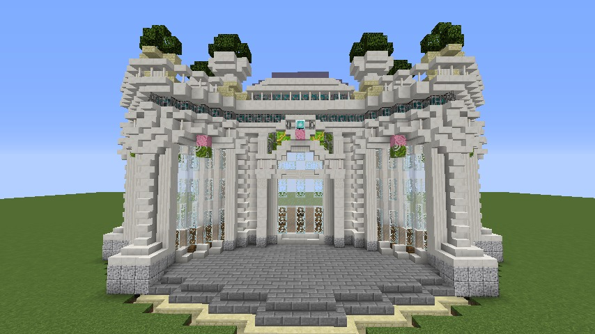 Minecrafterししゃもがマインクラフトでぷっこ村にフレンチパビリオンっぽいのを建築する5