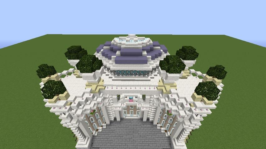 Minecrafterししゃもがマインクラフトでぷっこ村にフレンチパビリオンっぽいのを建築する