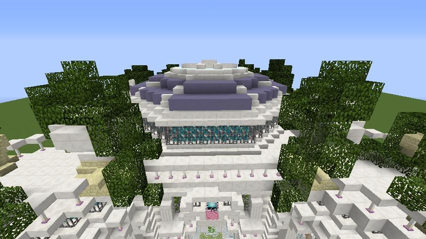 Minecrafterししゃもがマインクラフトでぷっこ村にフレンチパビリオンっぽいのを建築する8