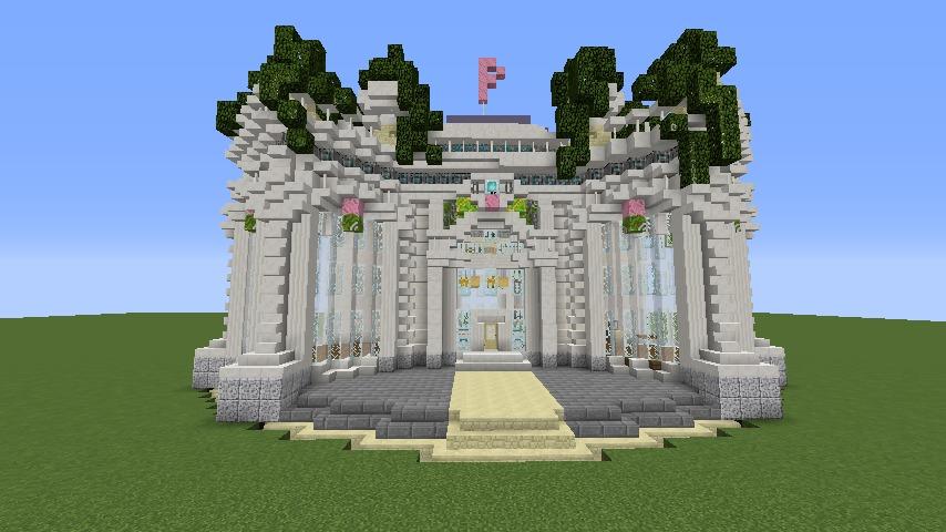 Minecrafterししゃもがマインクラフトでぷっこ村にフレンチパビリオンっぽいのを建築する9