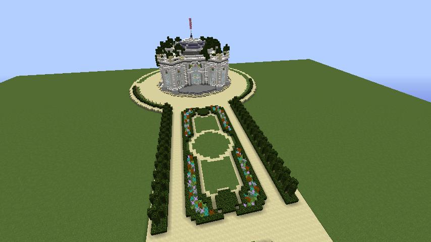Minecrafterししゃもがマインクラフトでぷっこ村にベルサイユっぽい庭園をつくる1