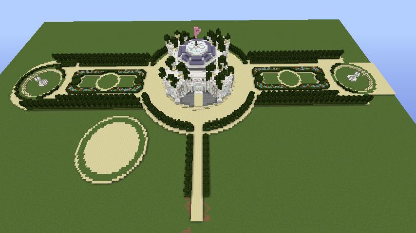 Minecrafterししゃもがマインクラフトでぷっこ村にベルサイユっぽい庭園をつくる2