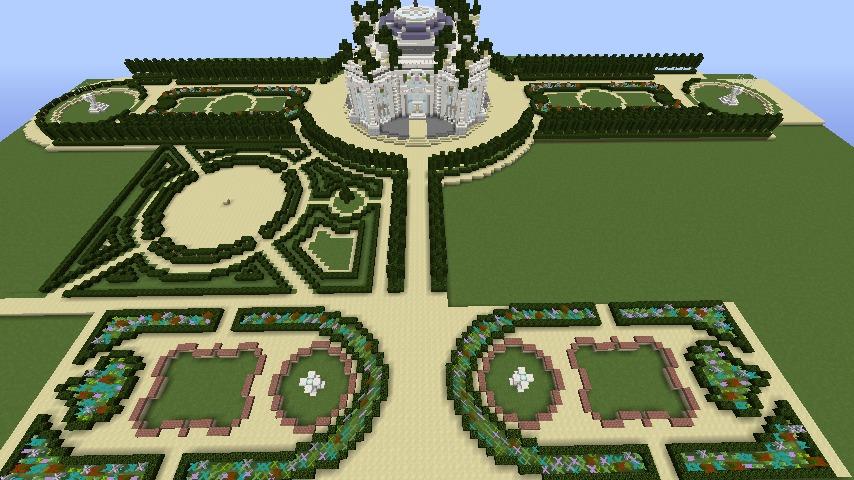 Minecrafterししゃもがマインクラフトでぷっこ村にベルサイユっぽい庭園をつくる9