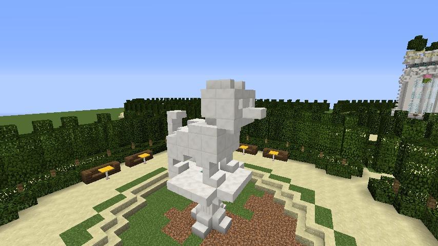 Minecrafterししゃもがマインクラフトでぷっこ村にベルサイユっぽい庭園をつくる4