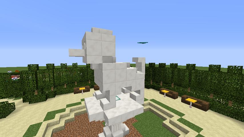 Minecrafterししゃもがマインクラフトでぷっこ村にベルサイユっぽい庭園をつくる5
