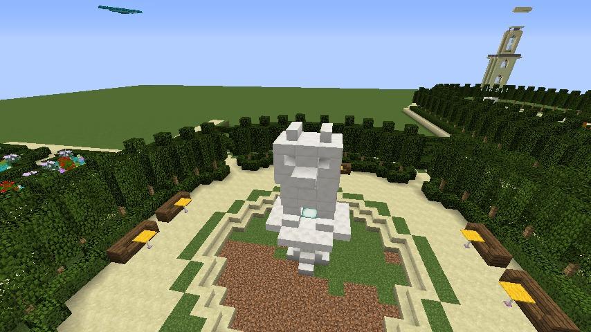 Minecrafterししゃもがマインクラフトでぷっこ村にベルサイユっぽい庭園をつくる6