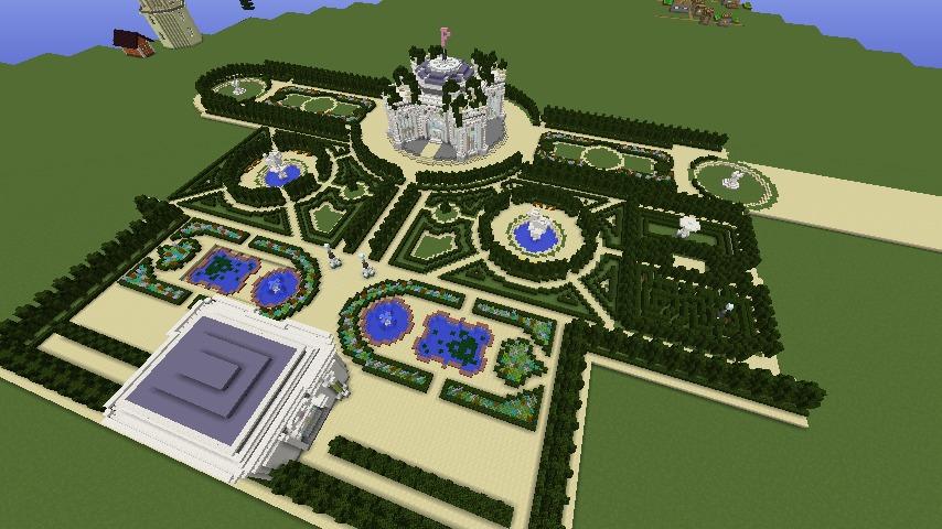 Minecrafterししゃもがマインクラフトでぷっこ村にベルサイユっぽい庭園の東側を作っていく話1