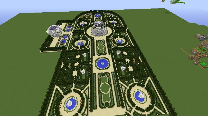 Minecrafterししゃもがマインクラフトでぷっこ村にベルサイユっぽい庭園の東側を作っていく話2