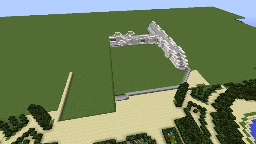 Minecrafterししゃもがマインクラフトでぷっこ村にベルサイユっぽい庭園の東側を作っていく話8