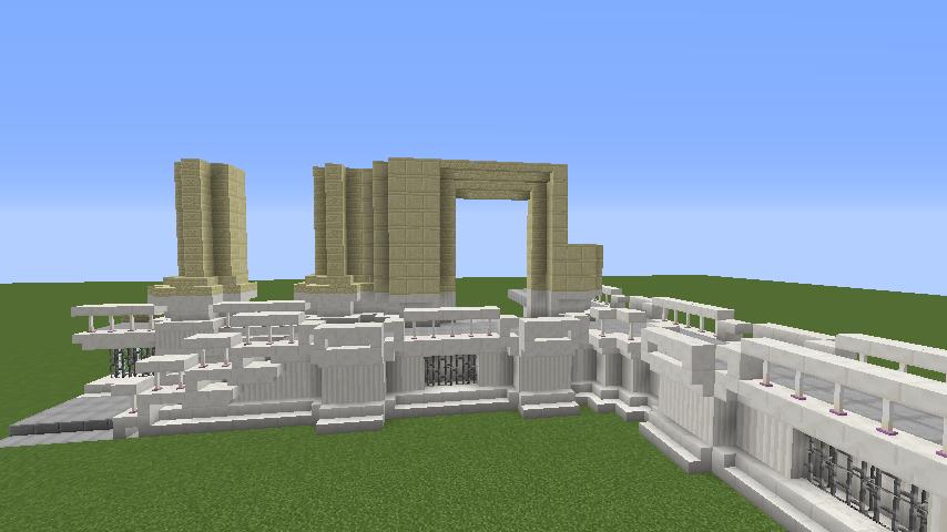 Minecrafterししゃもがマインクラフトでぷっこ村にベルサイユっぽい庭園の東側を作っていく話9