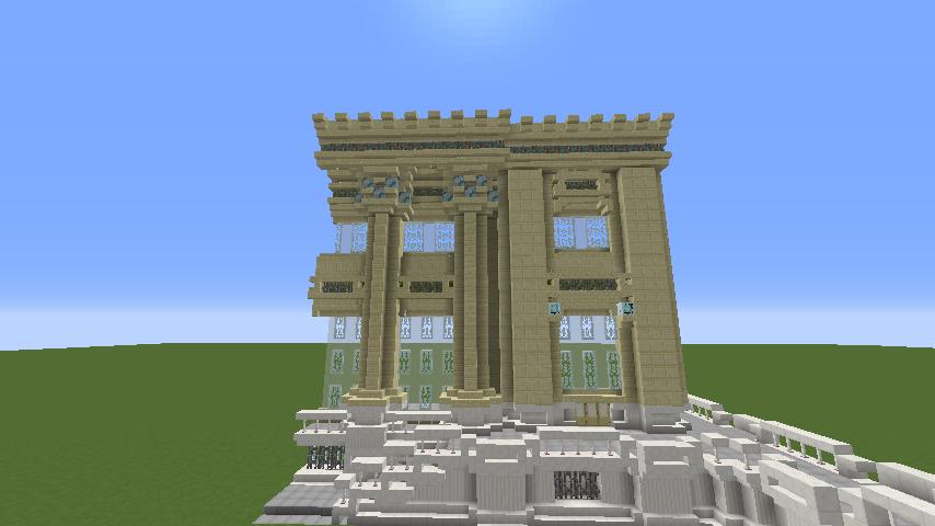 Minecrafterししゃもがマインクラフトでぷっこ村にベルサイユっぽい庭園の東側を作っていく話10