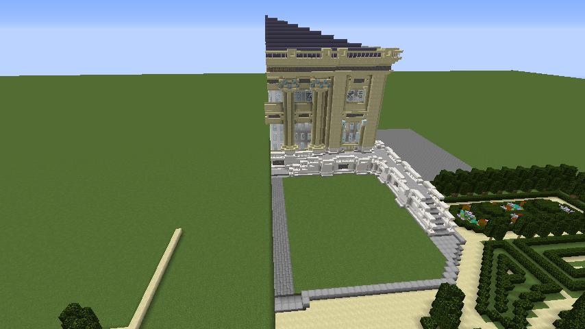 Minecrafterししゃもがマインクラフトでぷっこ村にベルサイユっぽい庭園の東側を作っていく話11