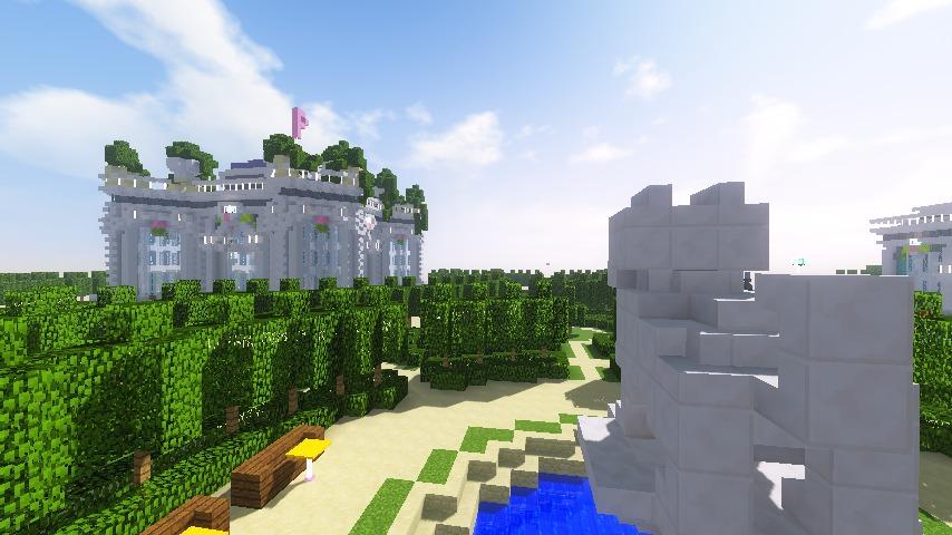 Minecrafterししゃもがマインクラフトでぷっこ村にベルサイユっぽい庭園をつくる10