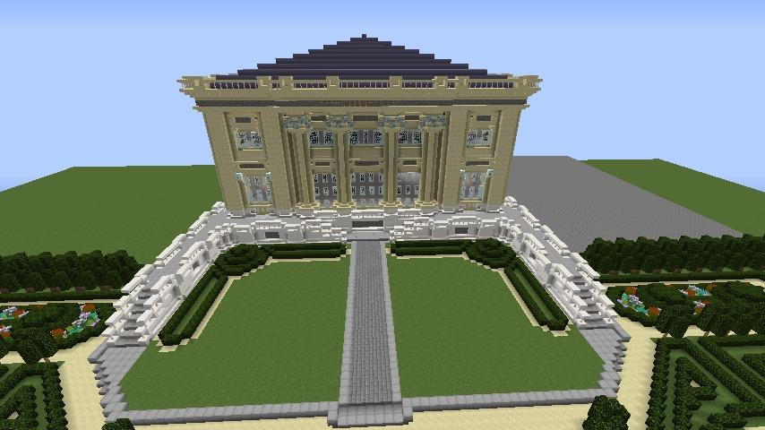 Minecrafterししゃもがマインクラフトでぷっこ村にベルサイユっぽい庭園の東側を作っていく話12