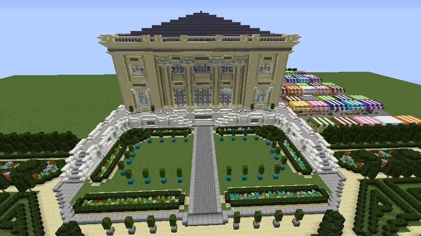 Minecrafterししゃもがマインクラフトでぷっこ村にベルサイユっぽい庭園の東側を作っていく話13