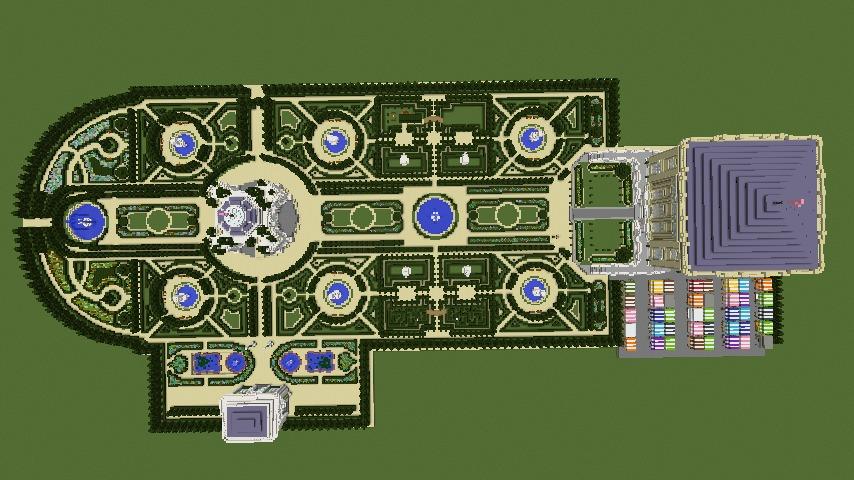 Minecrafterししゃもがマインクラフトでぷっこ村にベルサイユっぽい庭園の東側を作っていく話16