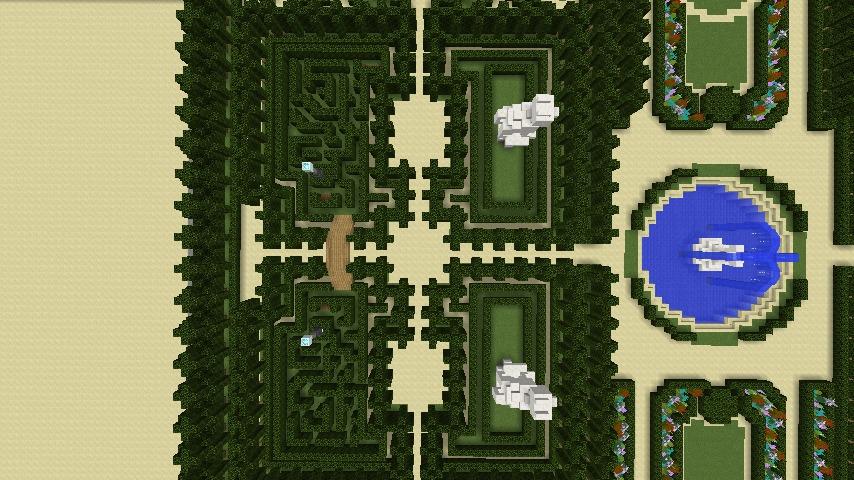 Minecrafterししゃもがマインクラフトでぷっこ村にベルサイユっぽい庭園の東側を作っていく話