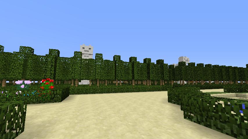 Minecrafterししゃもがマインクラフトでぷっこ村にベルサイユっぽい庭園の東側を作っていく話7