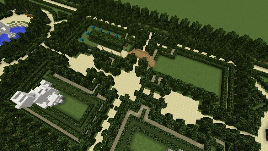 Minecrafterししゃもがマインクラフトでぷっこ村にベルサイユっぽい庭園の東側を作っていく話6