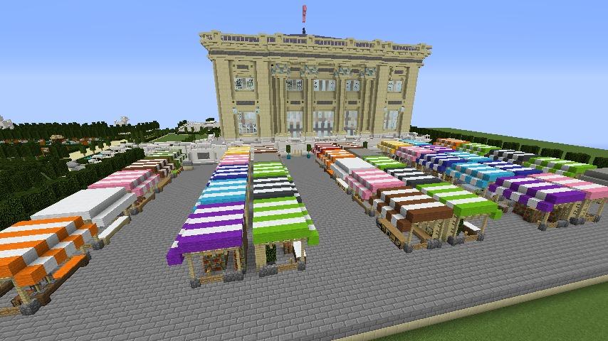 Minecrafterししゃもがマインクラフトでぷっこ村にベルサイユっぽい庭園の東側を作っていく話15