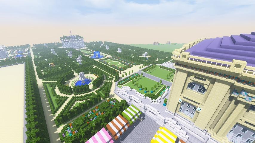 Minecrafterししゃもがマインクラフトでぷっこ村にベルサイユっぽい庭園の東側を作っていく話17