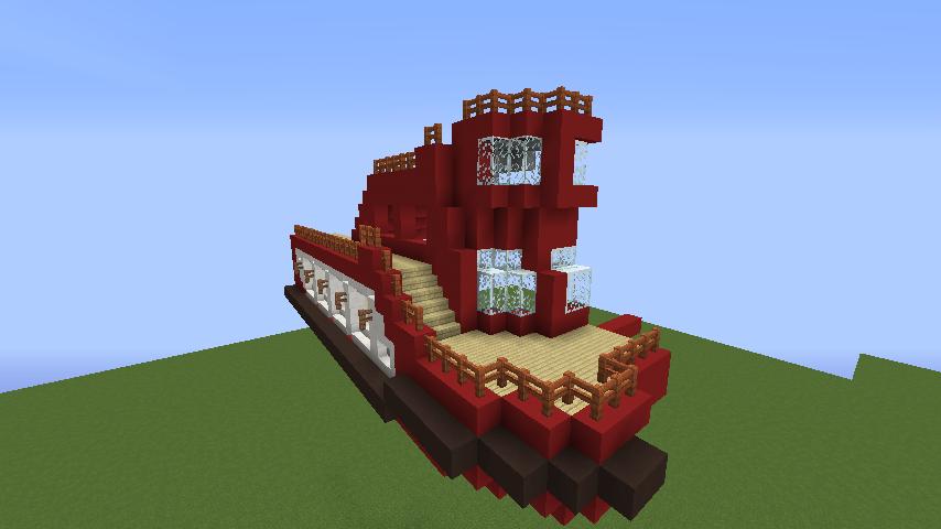 Minecrafterししゃもが1.14.4に引っ越しして真っ赤な観光船を作ってみる4
