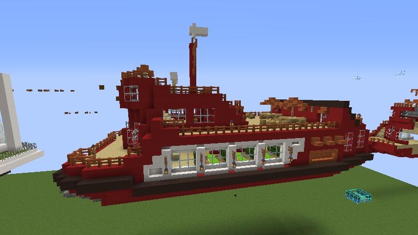 Minecrafterししゃもが1.14.4に引っ越しして真っ赤な観光船を作ってみる13