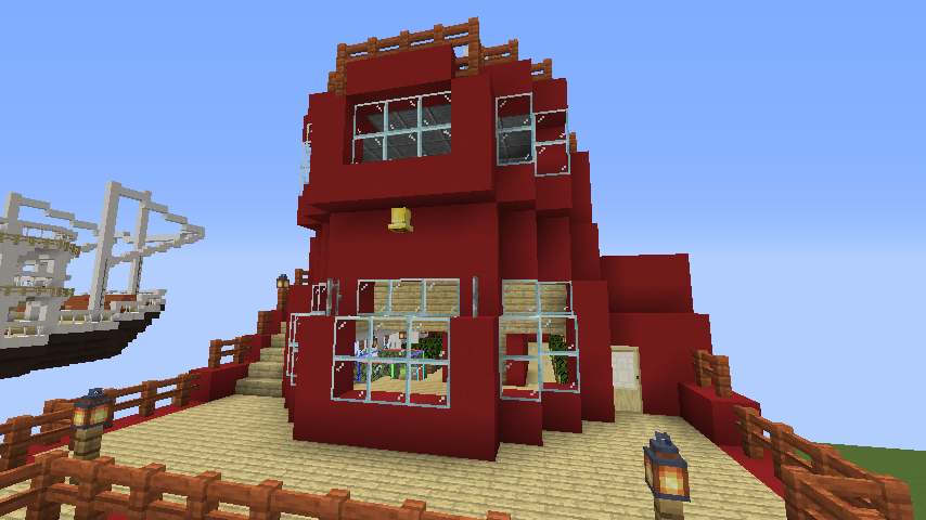 Minecrafterししゃもが1.14.4に引っ越しして真っ赤な観光船を作ってみる12