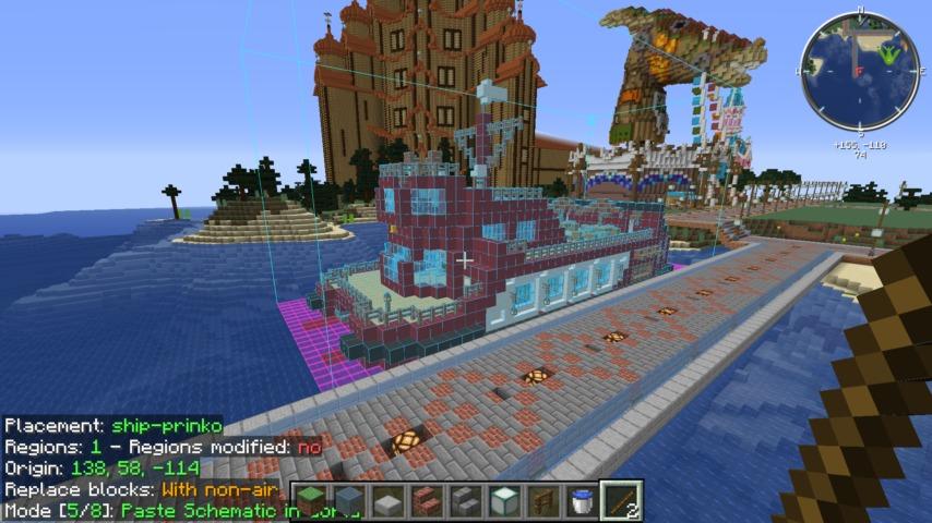 Minecrafterししゃもがマインクラフトでぷっこ村にぷりんこ号を建築するよ6