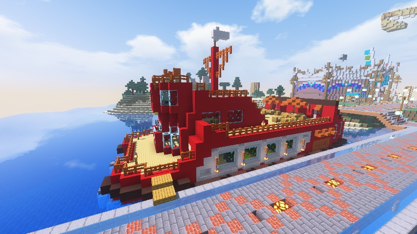 Minecrafterししゃもがマインクラフトでぷっこ村にぷりんこ号を建築するよ8
