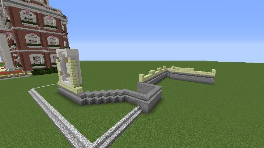 Minecrafterししゃもがマインクラフトでぷっこ村にガーデンスケイプな庭師のお屋敷を建築する2