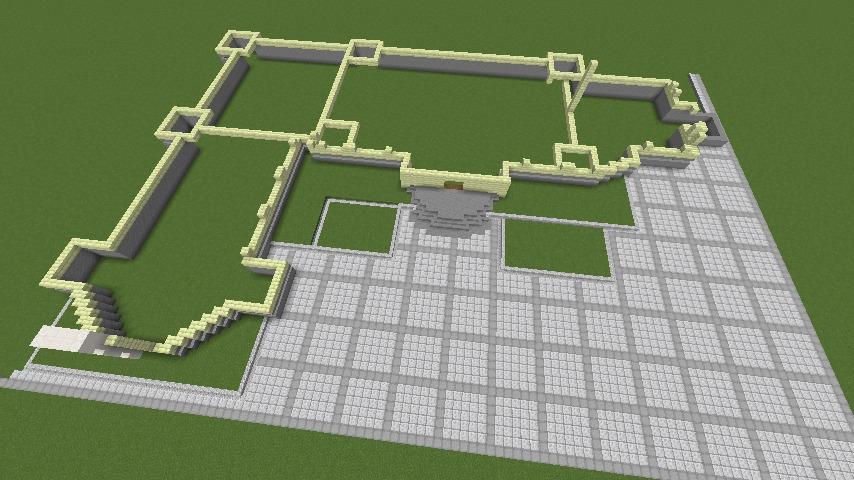 Minecrafterししゃもがマインクラフトでぷっこ村にガーデンスケイプな庭師のお屋敷を建築する3