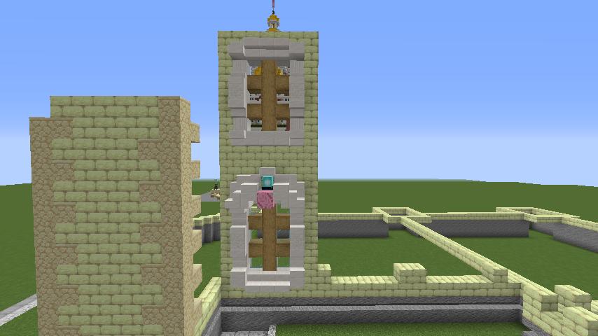 Minecrafterししゃもがマインクラフトでぷっこ村にガーデンスケイプな庭師のお屋敷を建築する4
