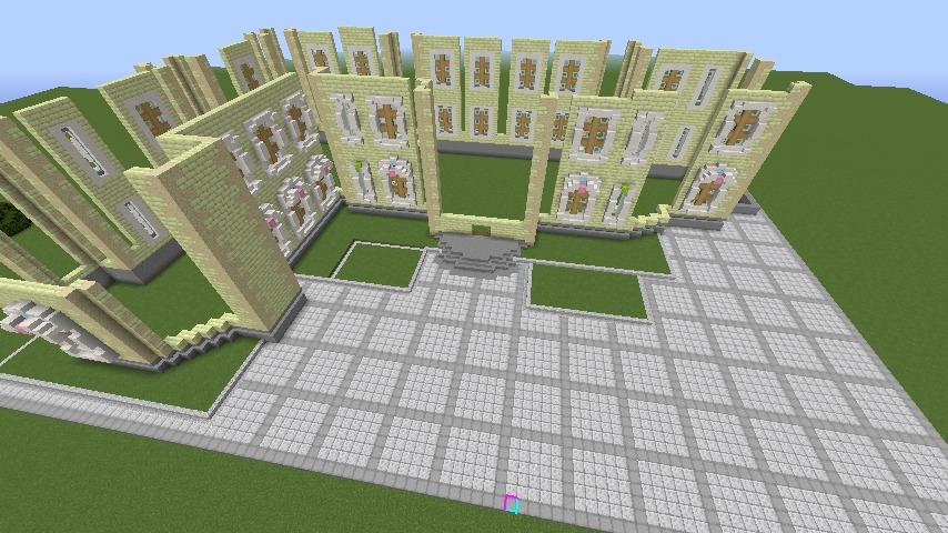 Minecrafterししゃもがマインクラフトでぷっこ村にガーデンスケイプな庭師のお屋敷を建築する6