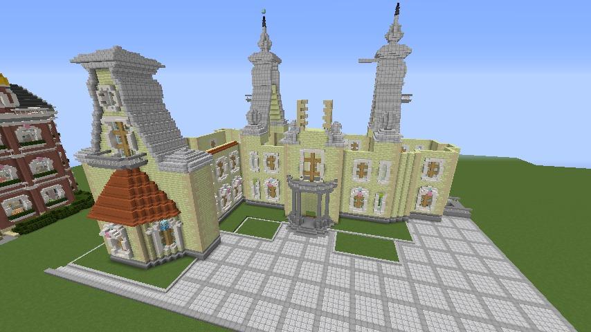 Minecrafterししゃもがマインクラフトでぷっこ村にガーデンスケイプな庭師のお屋敷を建築する7