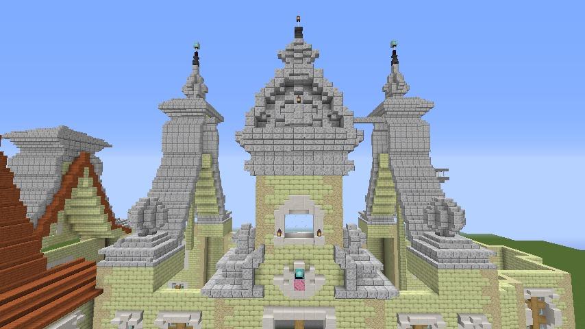 Minecrafterししゃもがマインクラフトでぷっこ村にガーデンスケイプな庭師のお屋敷を建築する8