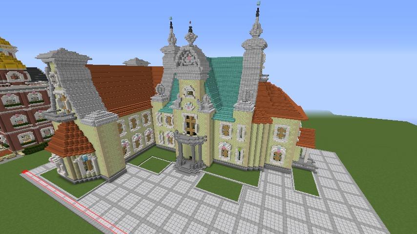 Minecrafterししゃもがマインクラフトでぷっこ村にガーデンスケイプな庭師のお屋敷を建築する9