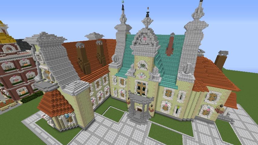Minecrafterししゃもがマインクラフトでぷっこ村にガーデンスケイプな庭師のお屋敷を建築する10