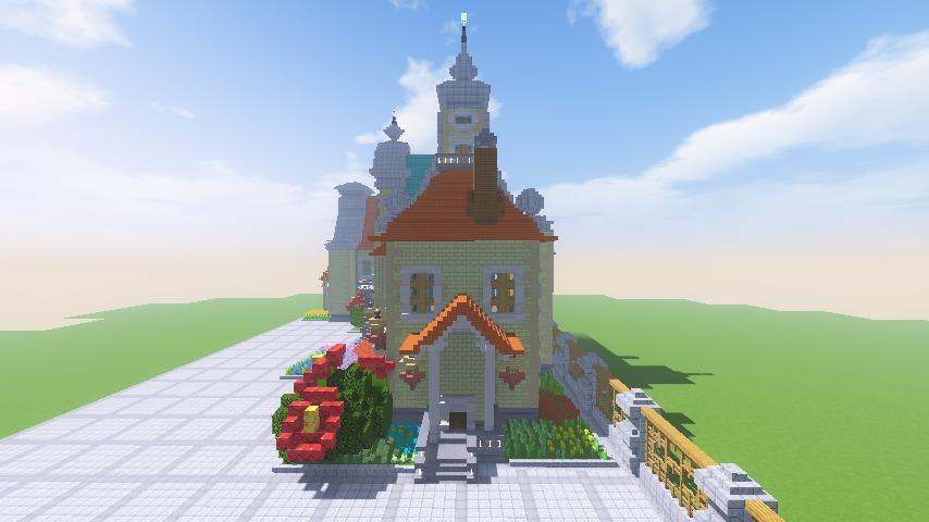 Minecrafterししゃもがマインクラフトでぷっこ村にガーデンスケイプな庭師のお屋敷を建築する17