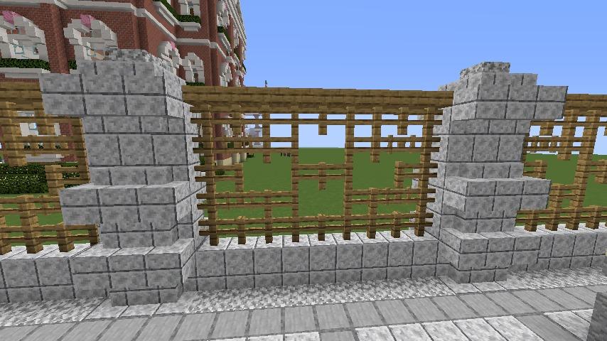 Minecrafterししゃもがマインクラフトでぷっこ村にガーデンスケイプな庭師のお屋敷を建築する12