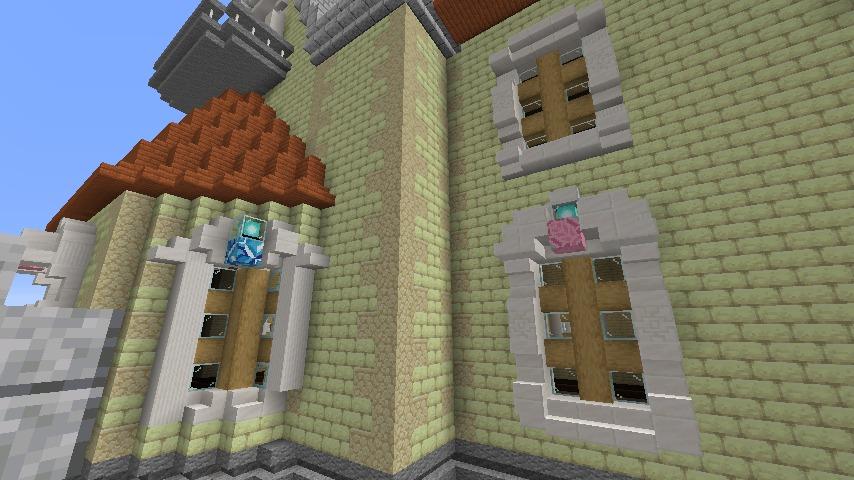 Minecrafterししゃもがマインクラフトでぷっこ村にガーデンスケイプな庭師のお屋敷を建築する5