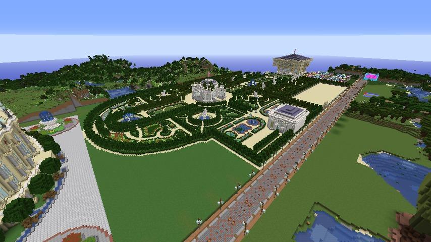 ベルサイユな庭園をぷっこ村に移築してみる3