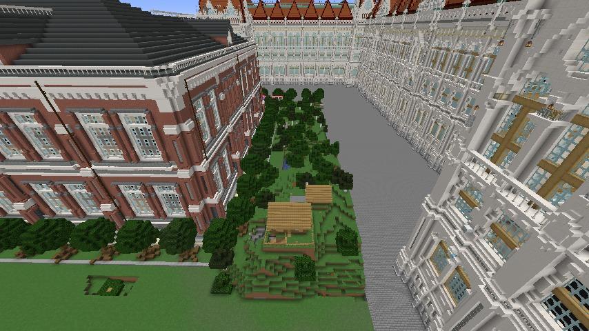 Minecrafterししゃもがマインクラフトでぷっこ村に建てた別荘が爆破される3