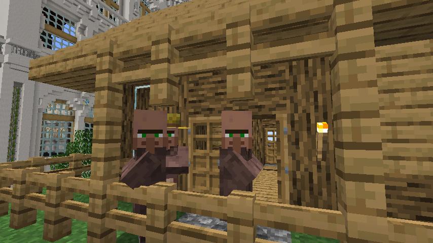 Minecrafterししゃもがマインクラフトでぷっこ村に建てた別荘が爆破される4