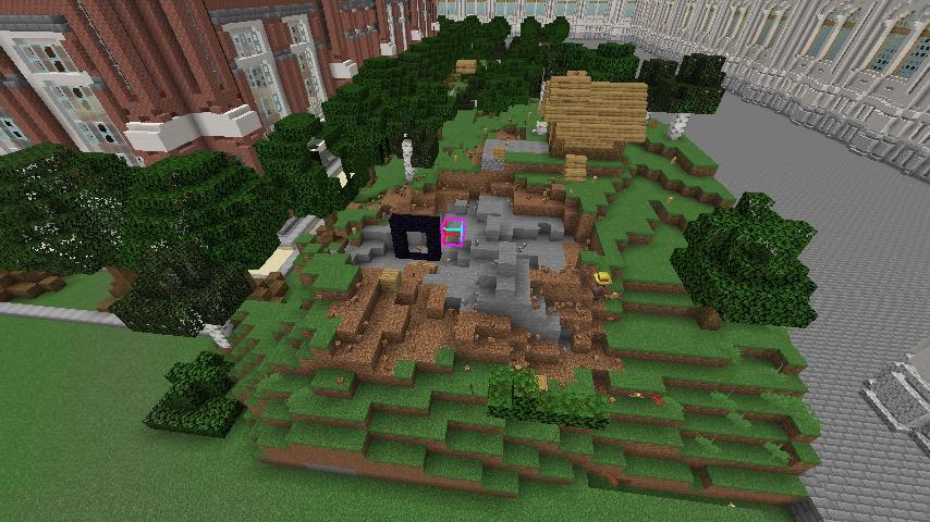 Minecrafterししゃもがマインクラフトでぷっこ村に建てた別荘が爆破される8