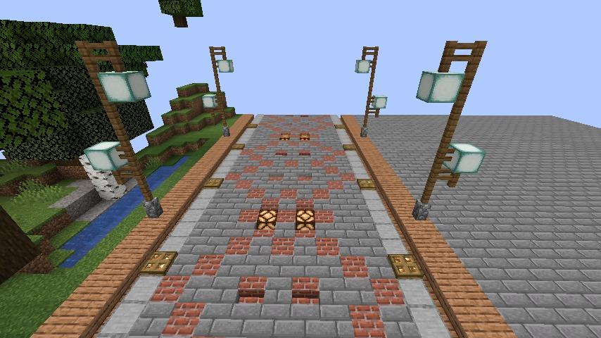 Minecrafterししゃもがマインクラフトでぷっこ村の街灯がダサすぎる問題を解決する3