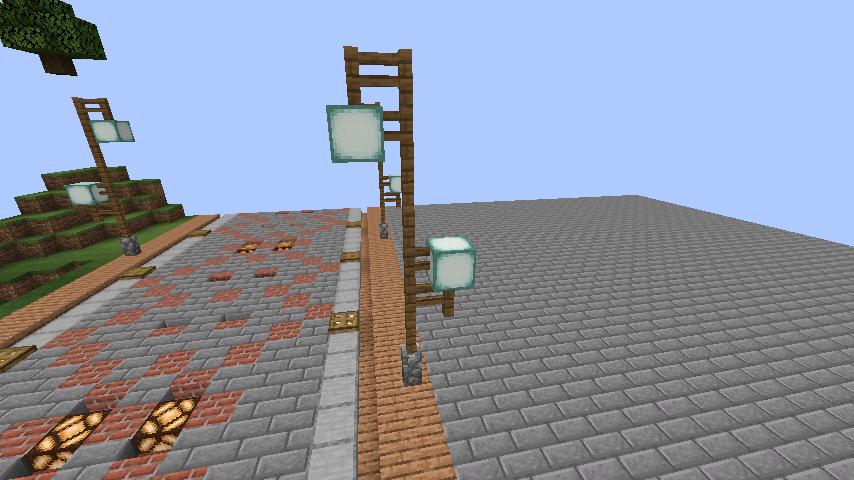 Minecrafterししゃもがマインクラフトでぷっこ村の街灯がダサすぎる問題を解決する1